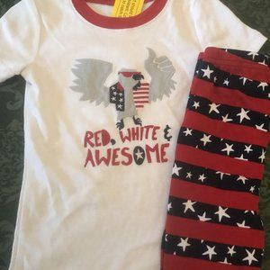 NWT GYMBOREE 5t 5 boys Pajamas Set Eagle Top Short
